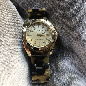 Anne Klein Tortoise shell watch
